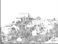 village bâti mi-pente