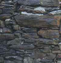 schiste, mur en pierres sèches, Ventajols