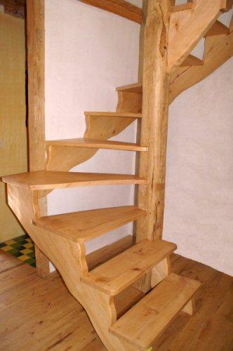 Escalier Quart Tournant Bois - escalier bois sur mesure