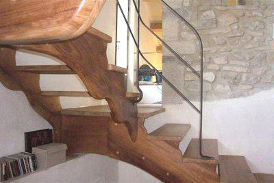Escalier bois sur mesure - Escalier fer et bois ...