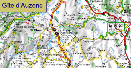 Situate Auzenc with viamichelin.fr - Click at the picture